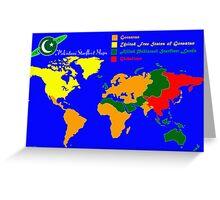 28TH Century World Map Greeting Card