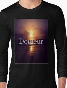SUNSET DOULEUR - WHITE & BLACK Long Sleeve T-Shirt
