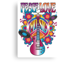 Peace, Love and Music Canvas Print