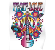 Peace, Love and Music Poster