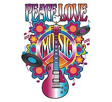 Peace, Love and Music Photographic Print