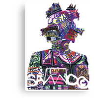 Basquiat SAMO silhouette A Bit Normal Canvas Print
