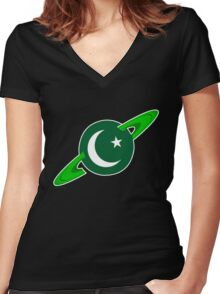 Show you are a Pakistani Starfleet Hero Women's Fitted V-Neck T-Shirt