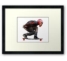 Skate aerodynamics! Framed Print