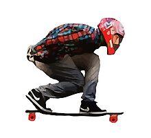 Cool Skateboard aerodynamics! NIKE VANS Photographic Print