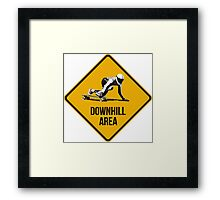Downhill Area. Skaters and longboarders expected! Framed Print