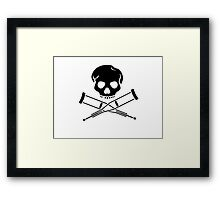 Skull with crutches. Framed Print