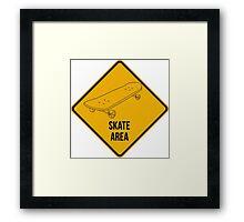 Skate park area. Framed Print