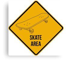 Skate park area. Canvas Print
