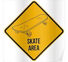 Skate park area. Poster