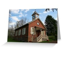 Amity School House Greeting Card