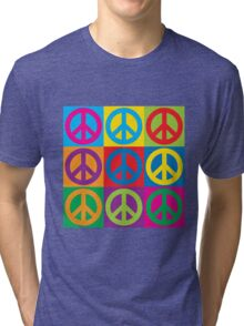 Pop Art Peace Symbols Tri-blend T-Shirt