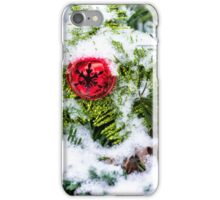 Red Jingle Bell and Snow iPhone Case/Skin