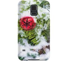Red Jingle Bell and Snow Samsung Galaxy Case/Skin