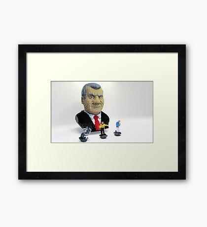 Plastic Shatner Framed Print