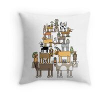 Acrobatic Pets Throw Pillow