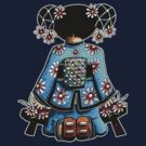 Asia Blue Doll (large design) by © Cassidy (Karin) Taylor