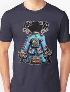 Asia Blue Doll (large design) Unisex T-Shirt