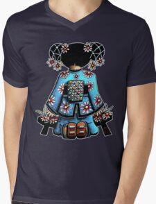Asia Blue Doll (large design) Mens V-Neck T-Shirt
