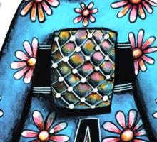 Asia Blue Doll (large design) Sticker