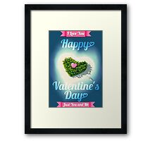 Happy Valentine's Day Tropical Island  Framed Print