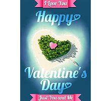 Happy Valentine's Day Tropical Island  Photographic Print