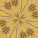 Yellow and Ochre Flower Pattern Abstract 2 by taiche
