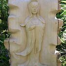 Kwan Yin in Crocodile Wood by Jaime Parker