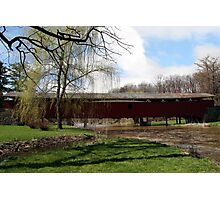 Bogert Covered Bridge - Allentown Pa. Photographic Print