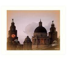 Roof tops  Liverpool  Art Print