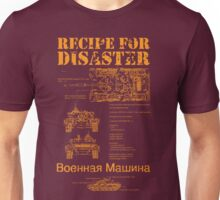 Recipe For Disaster Unisex T-Shirt
