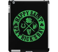 Saint Patrick's Day Green Badge Logo iPad Case/Skin