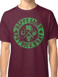 Saint Patrick's Day Green Badge Logo Classic T-Shirt