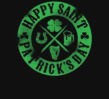 Saint Patrick's Day Green Badge Logo Unisex T-Shirt