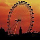 London Eye at sunset by scotts03