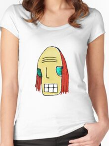 Cool Young Man Character Portrait Women's Fitted Scoop T-Shirt