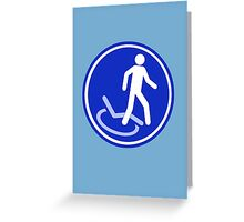 PARKING ZONE FOR DISABLED Greeting Card