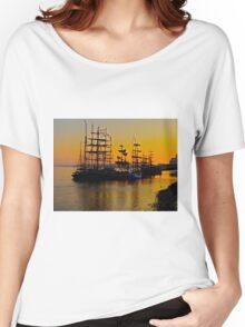 Tall ships at Greenwich Women's Relaxed Fit T-Shirt