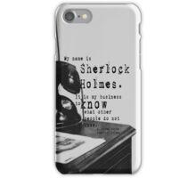 My Name is Sherlock Holmes iPhone Case/Skin
