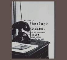 My Name is Sherlock Holmes Kids Clothes