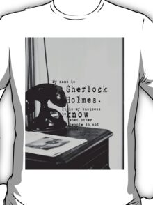 My Name is Sherlock Holmes T-Shirt