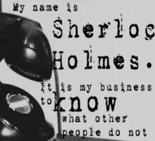 My Name is Sherlock Holmes Sticker