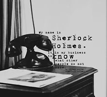 My Name is Sherlock Holmes by Kimberose