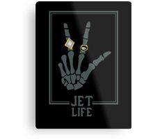 Jet Life Skull Rings Metal Print