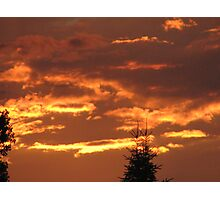 our evening sky  Photographic Print