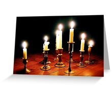 Council of Candles Greeting Card