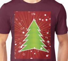 Christmas tree green applique Unisex T-Shirt