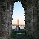 Clonmacnoise round tower view by John Quinn