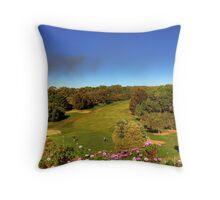 Golf course view Throw Pillow