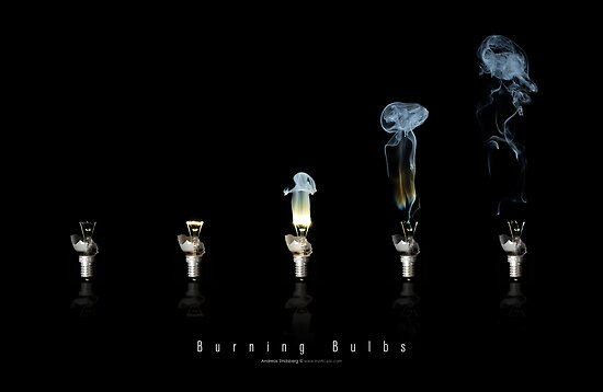 Burning Bulbs by Andreas Stridsberg